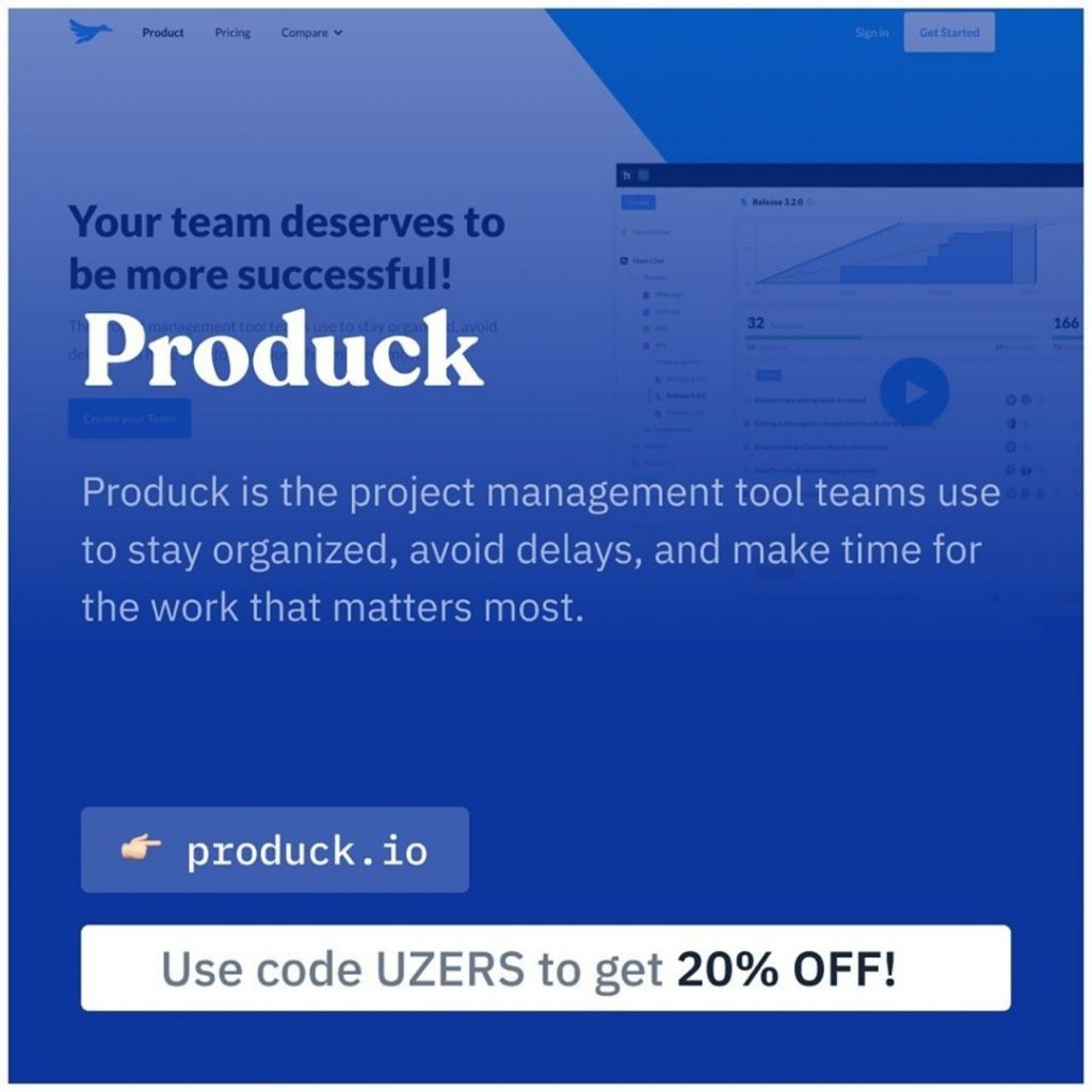 Produck. Produck is the project management tool teams use to stay organized, avoid delays, and make time for the work that matter most