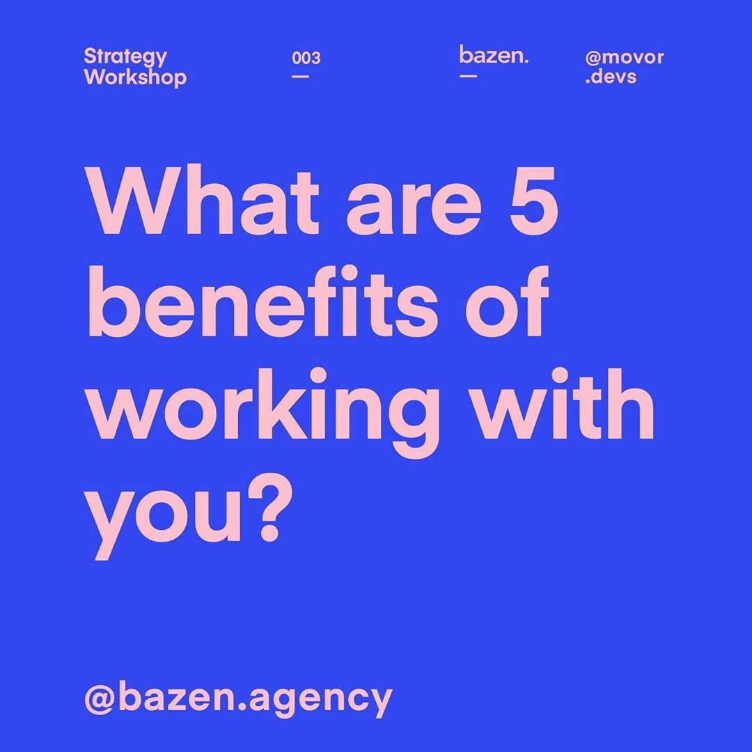 What are 5 benefits of working with you?