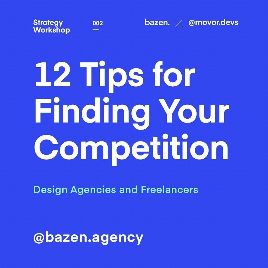 12 Tips for Finding Your Competition