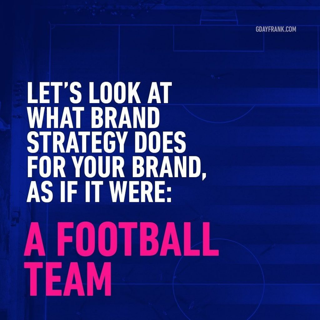 Let's look at what brand strategy does for your brand, as if it were: A Football team.