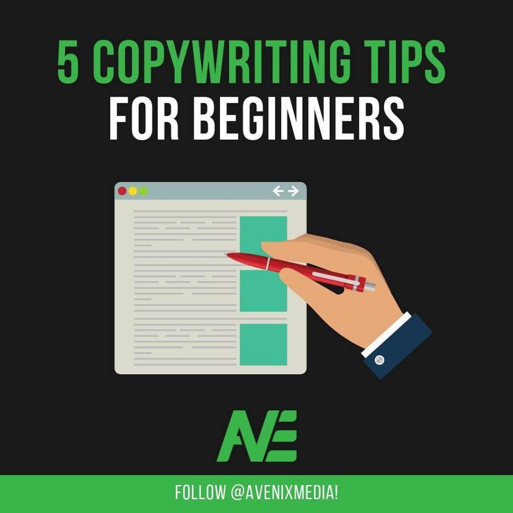 5 copywriting tips for beginners
