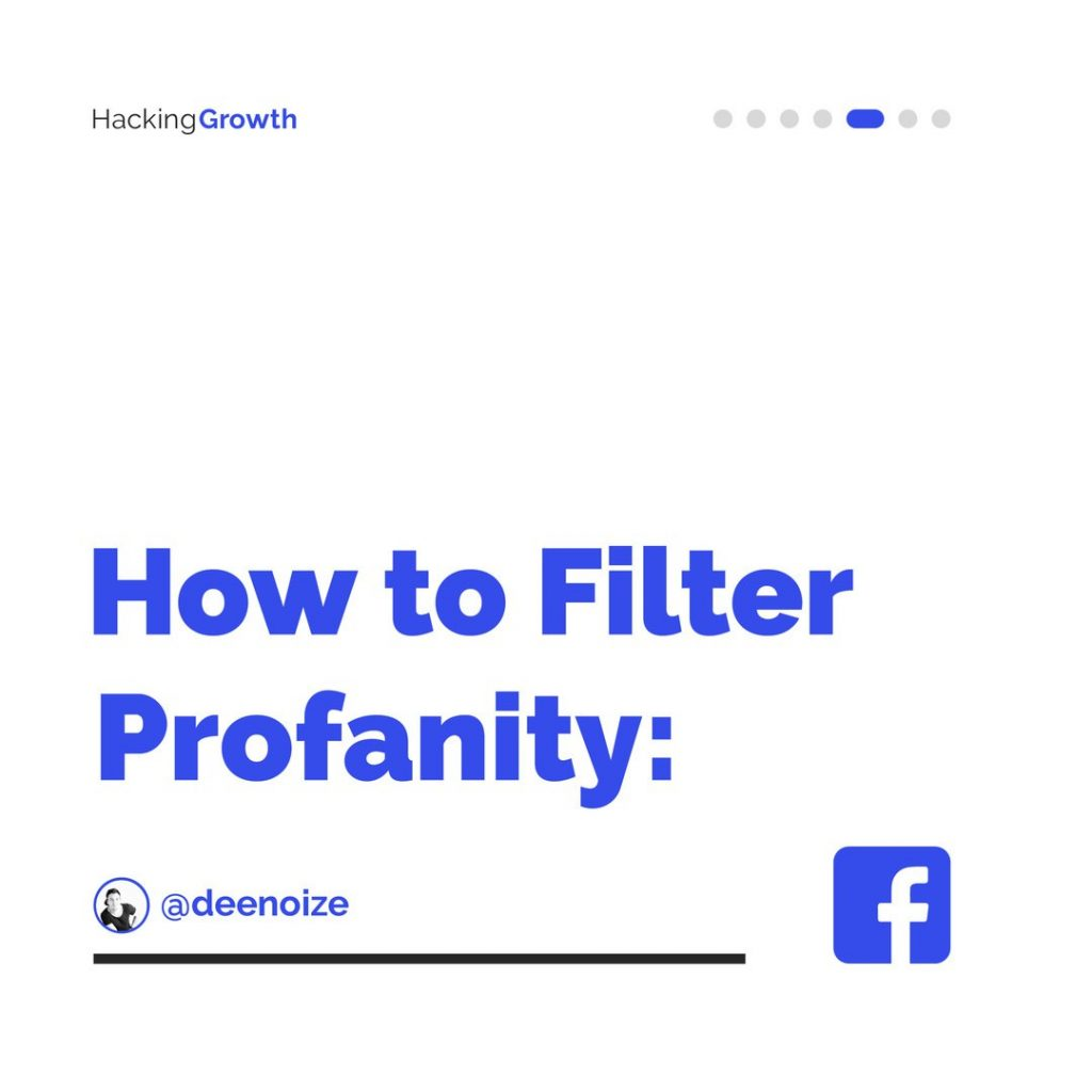 How to Filter Profanity: