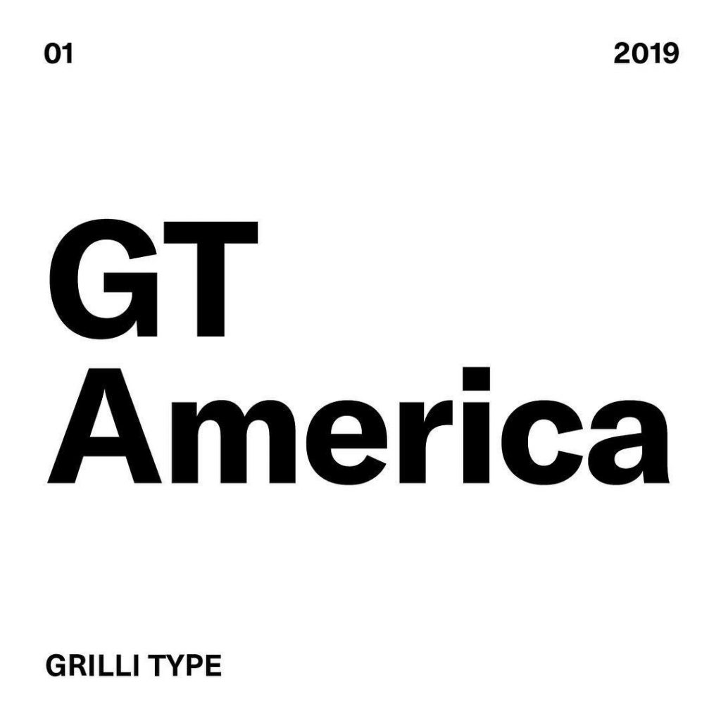 1. GT America by @grillitype