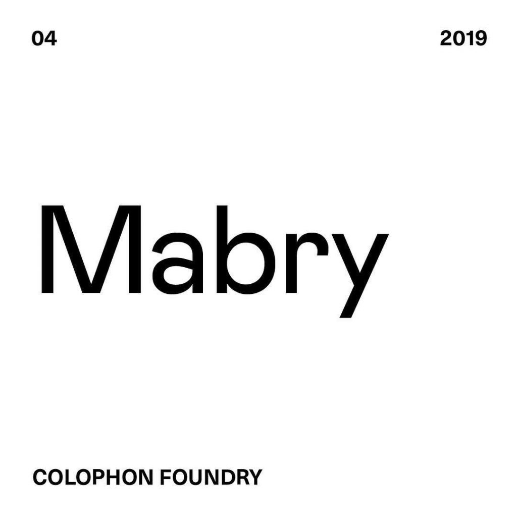 4. Mabry by @colophonfoundry