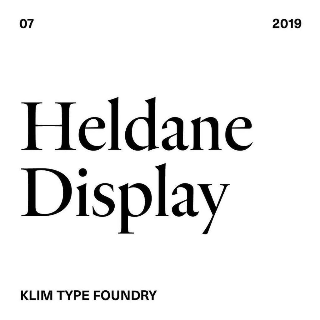 7. Heldane Display by @klim_type_foundry