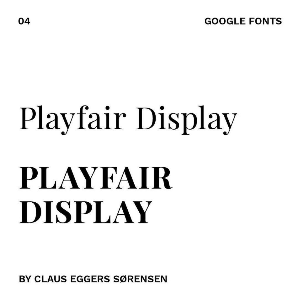 4. Playfair Display by @claus8660