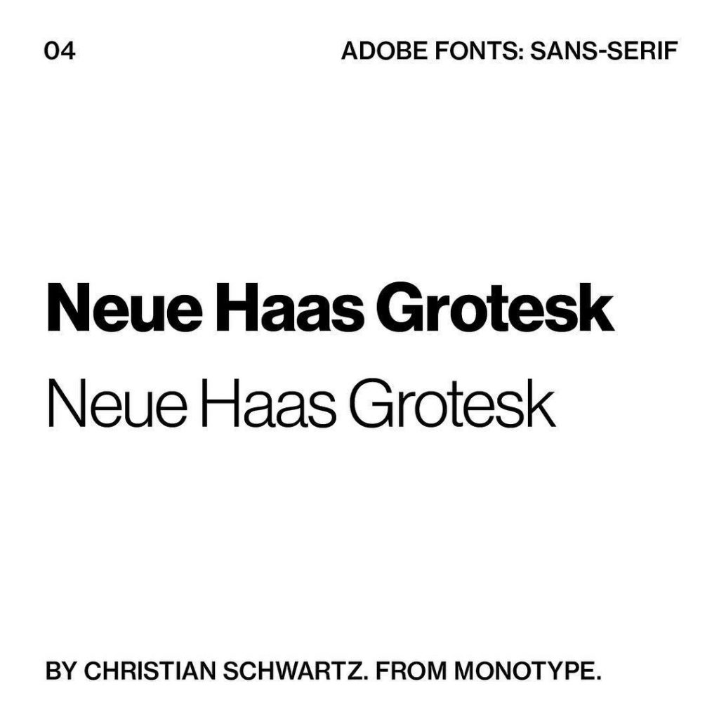 4. Neue Haas Grotesk by Christian Schwartz. From @bymonotype