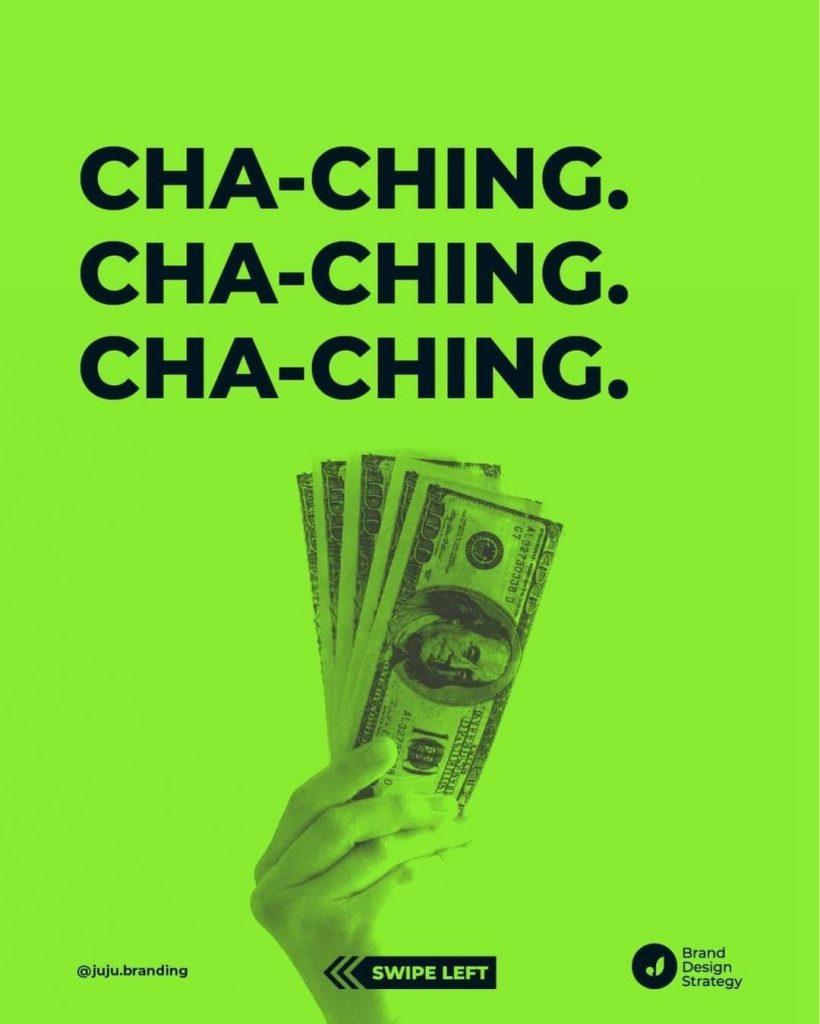 Cha-ching. Cha-ching. Cha-ching.