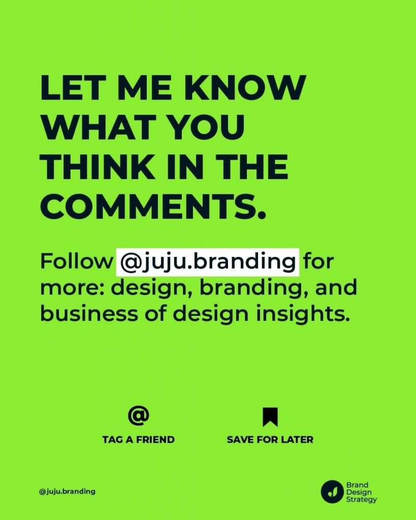 Let me know what you think in the comments.  Follow @juju.branding for more: design, branding, and business of design insights.