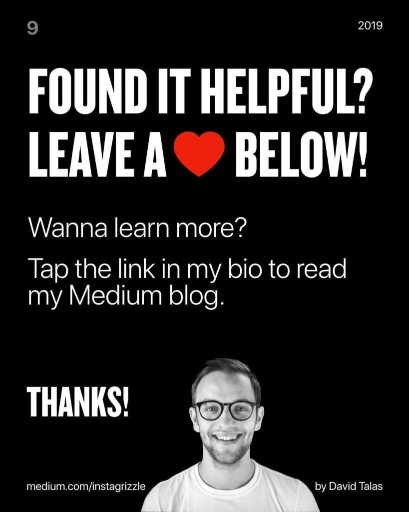 Found it helpful? Leave a love below!  Wanna learn more?  Tap the link in my bio to read my Medium blog.