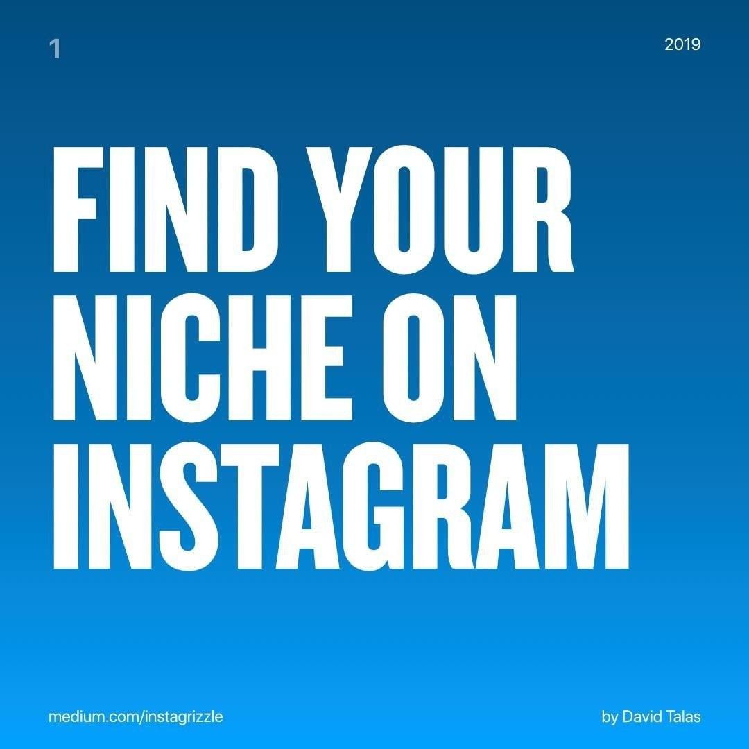 Find Your Niche On Instagram