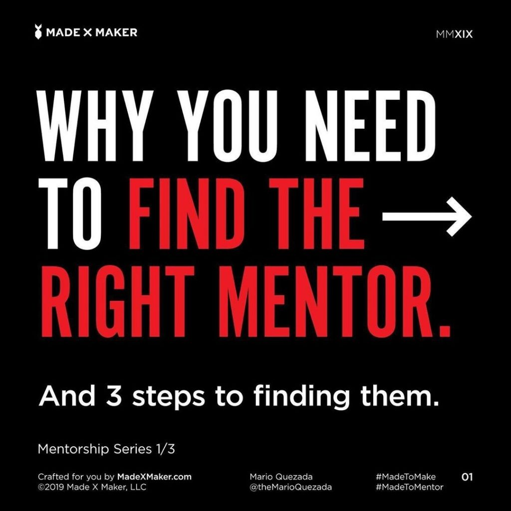Why you Need to find the Right Mentor