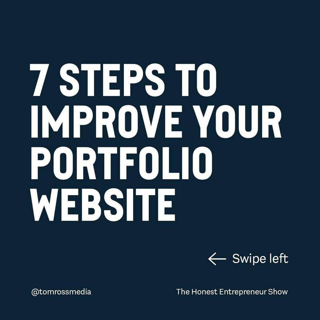 7 Steps to Improve your Portfolio Website