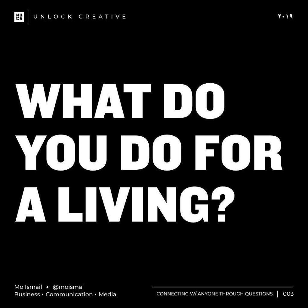 What do you do for a living?