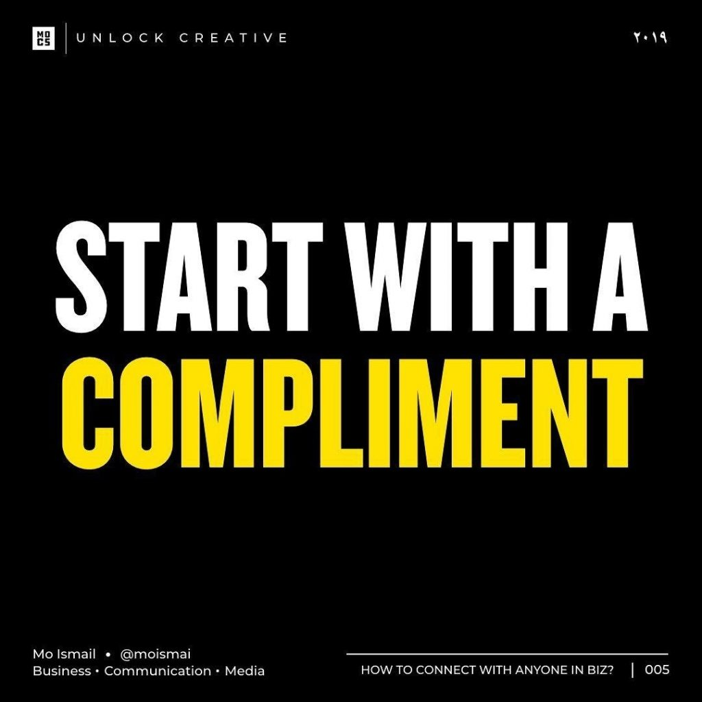 Start with a compliment