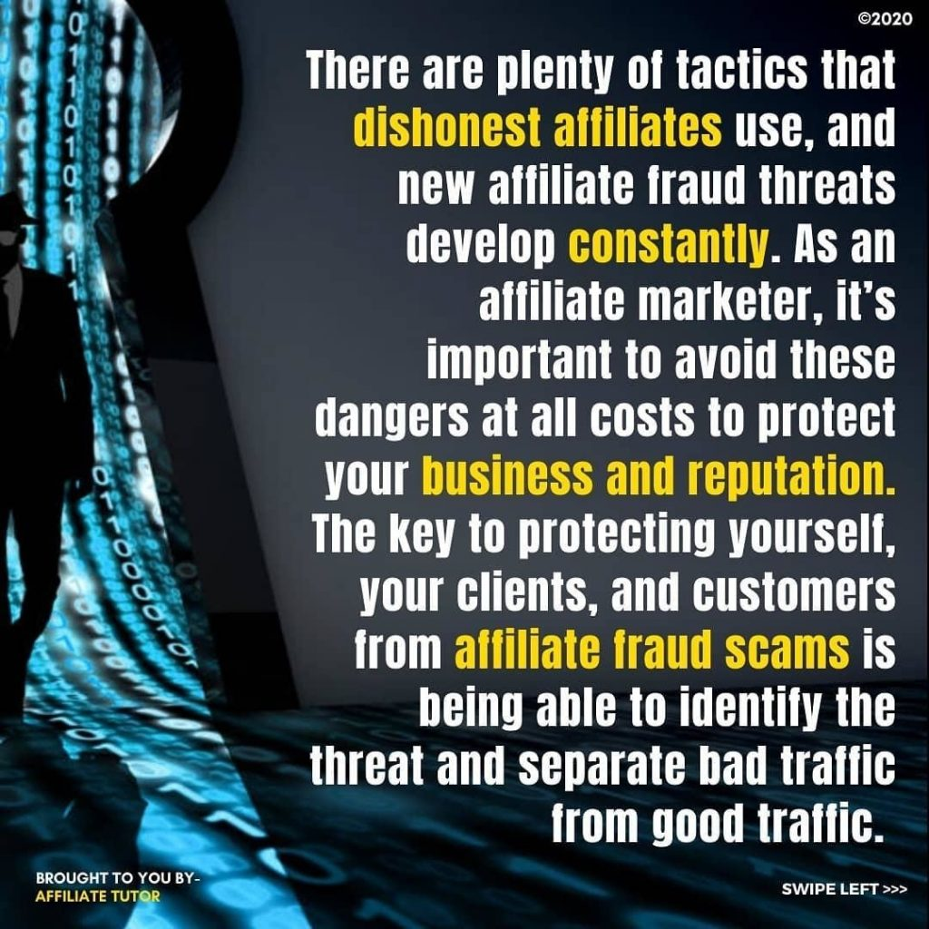 There are plenty of tactics that dishonest affiliates use, and new affiliate fraud threats develop constantly. As an affiliate marketer, it's important to avoid these dangers at all costs to protect your business and reputation. The key to protecting yourself, your clients, and customers from affiliate fraud scams is being able to identify the threat and separate bad traffic