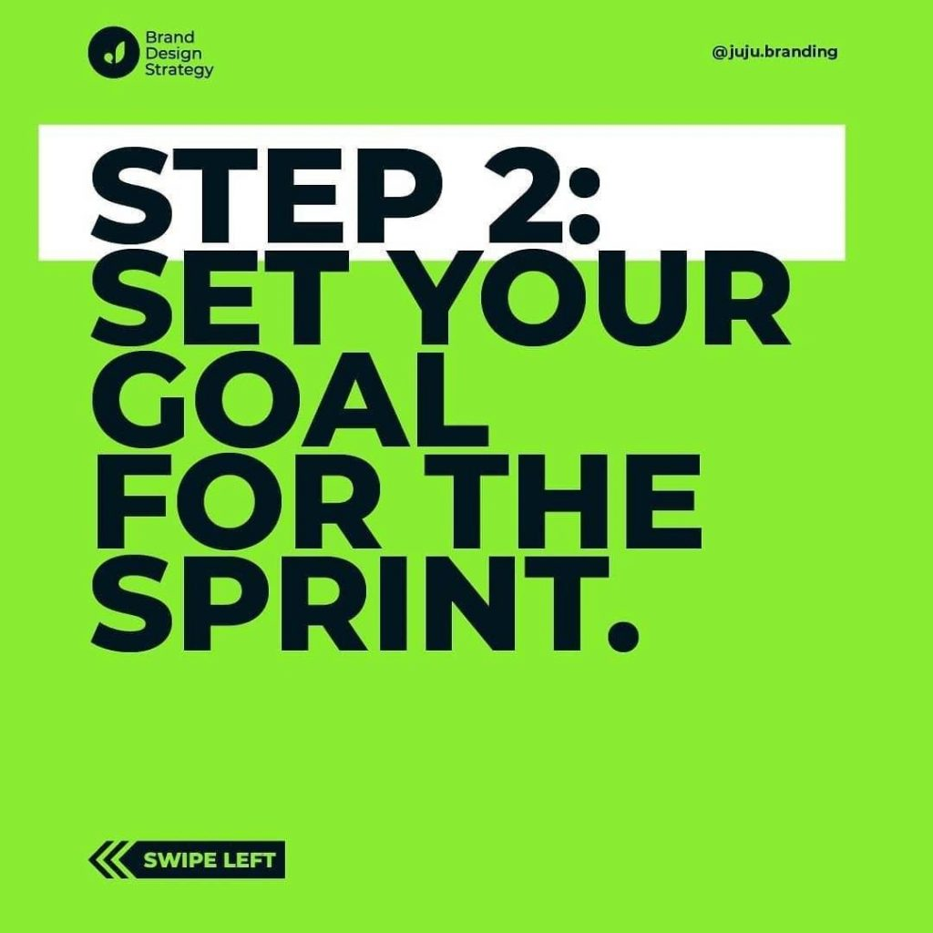 Step 2: set your goal for the sprint