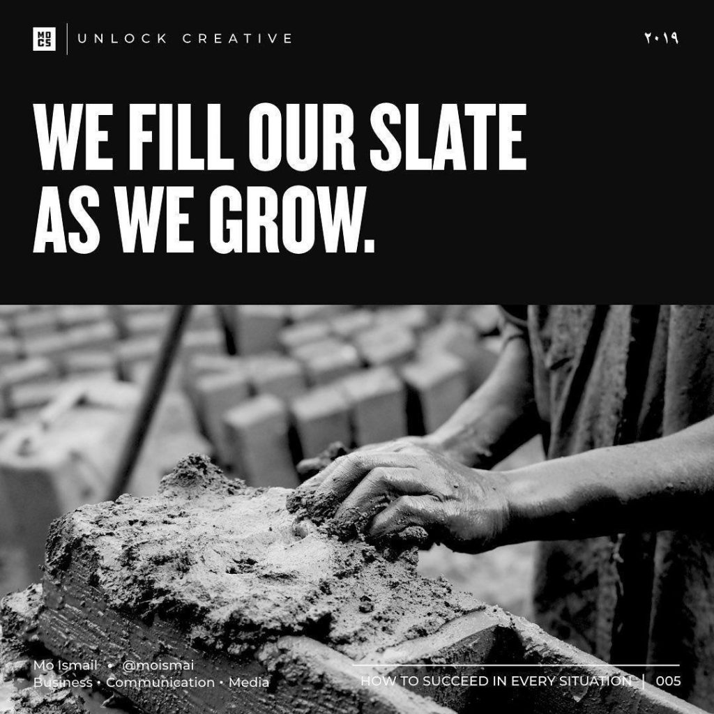 we fill our slate as we grow