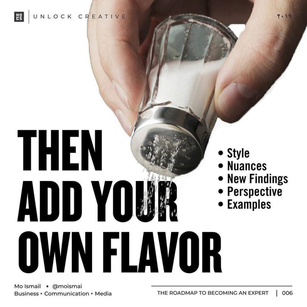 Then add your own flavor Style Nuances New Findings Perspective Examples