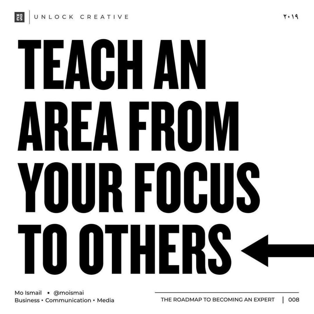 Teach an area from your focus to others