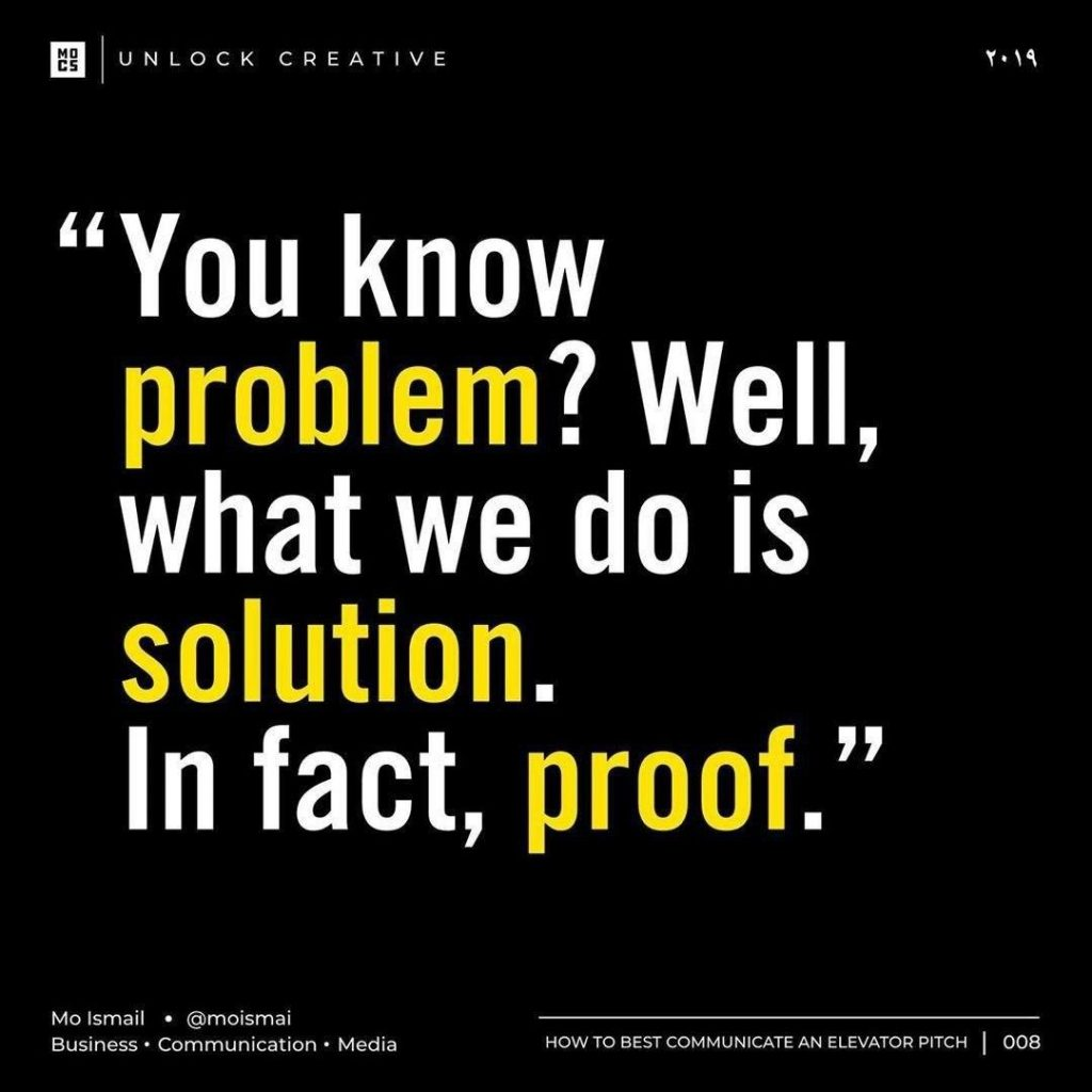 you know problem? Well, what we do is solution. In fact, proof