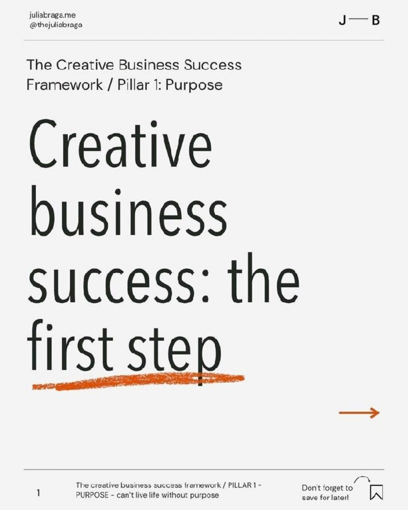 Creative business success: the first step