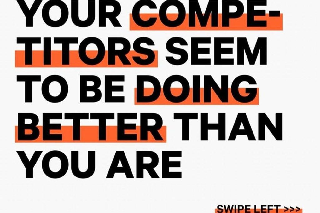Your competitor seem to be doing better than you are