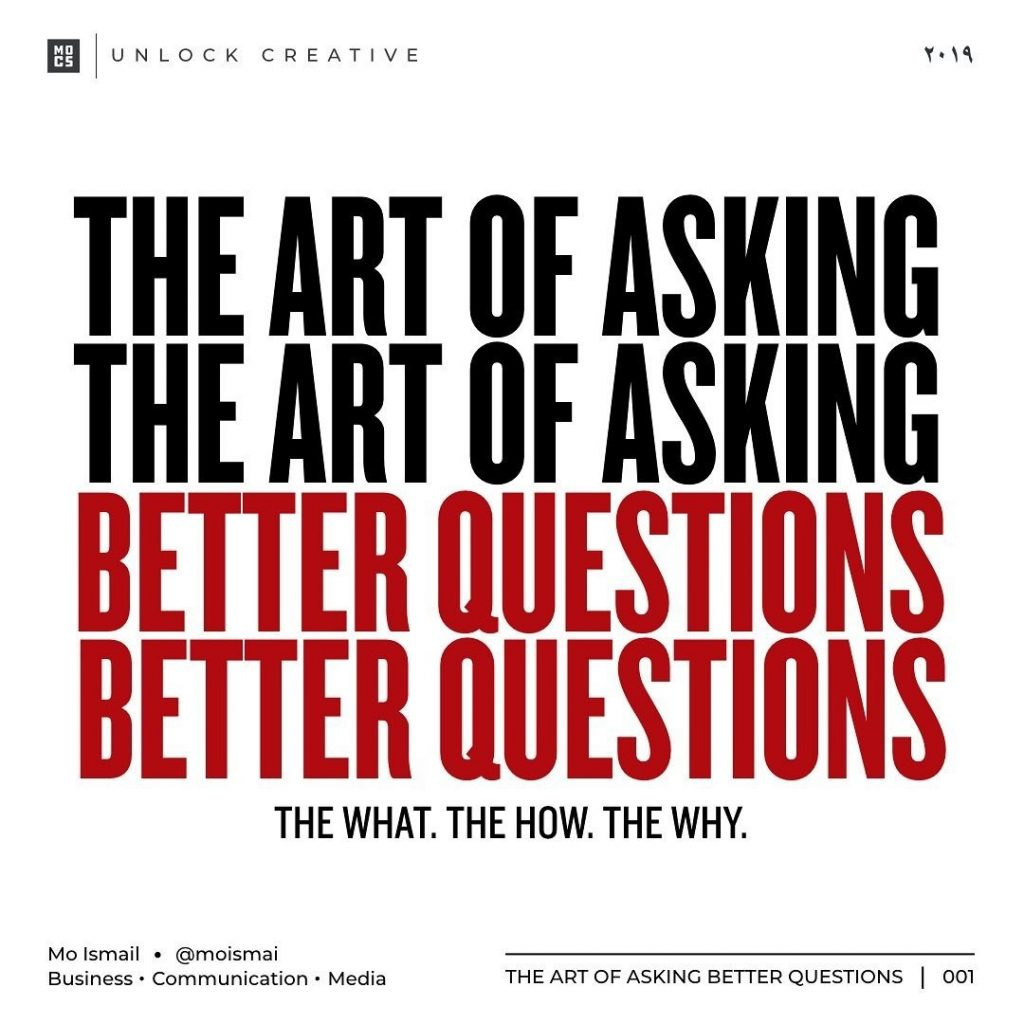 The Art of Asking The Better Questions