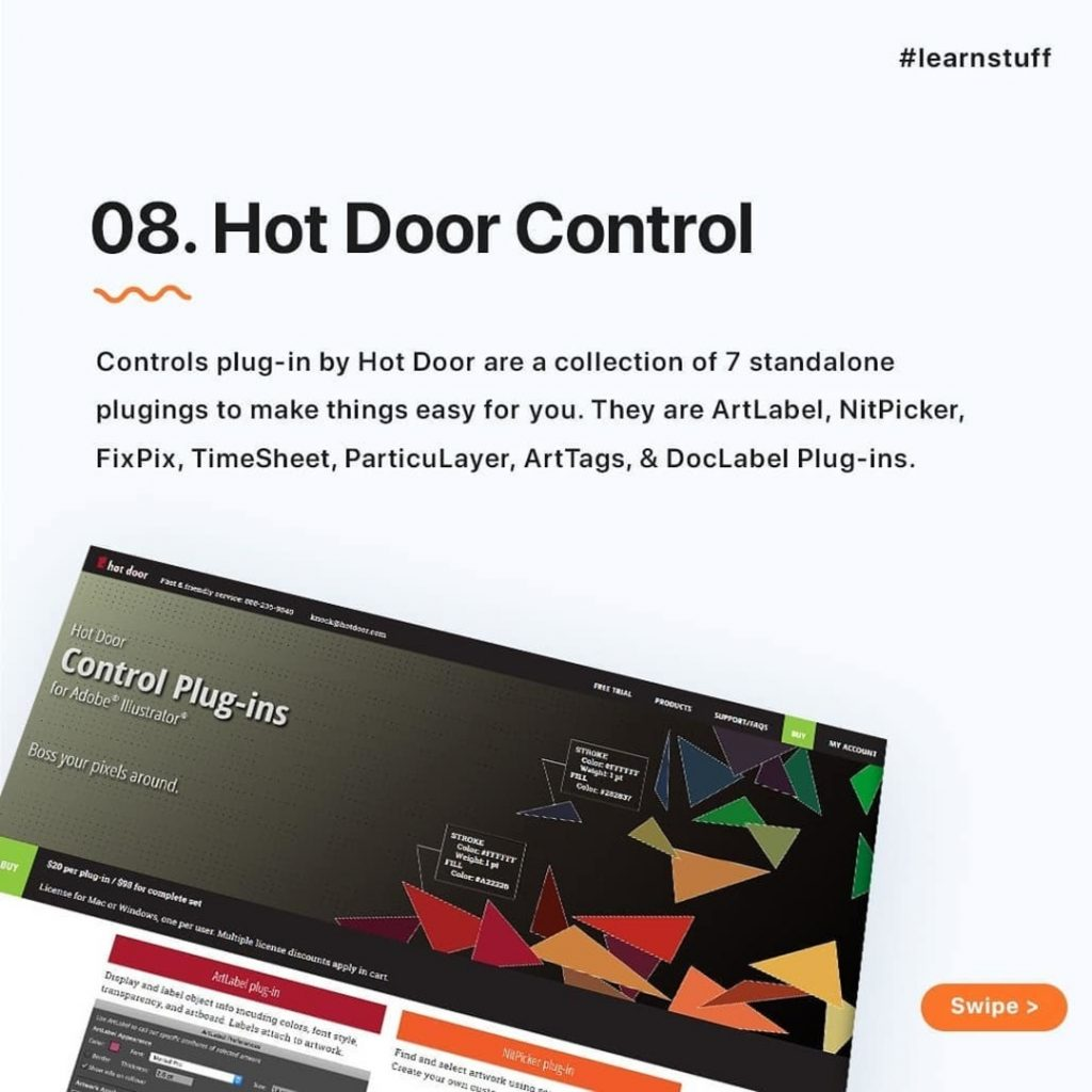 Hot Door Control  Controls plug-in by Hot Door are a collection of 7 standalone plugings to make things easy for you. They are ArtLabel, NitPicker, FixPix, TimeSheet, ParticuLayer, ArtTags, & DocLabel Plug-ins.
