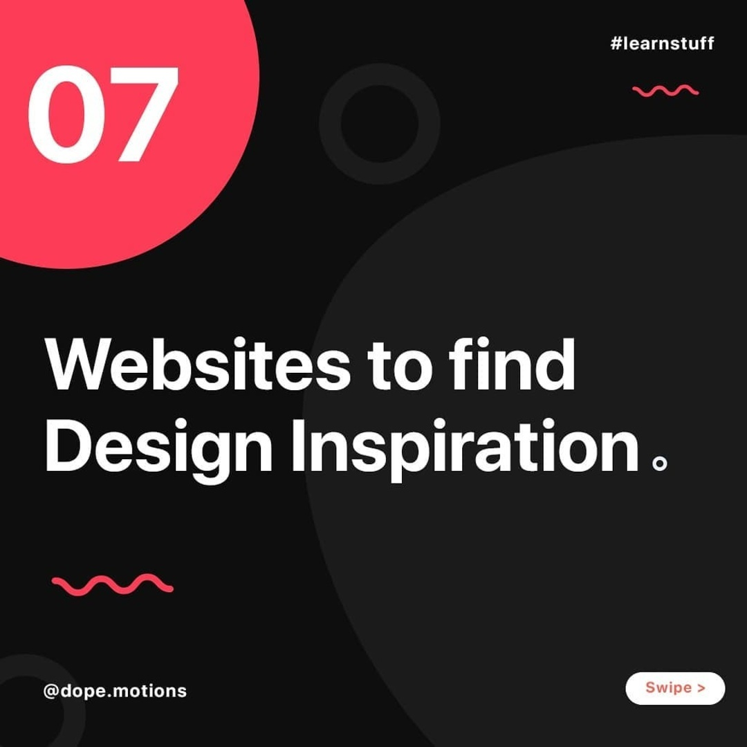 7 Website to find Design Inspiration
