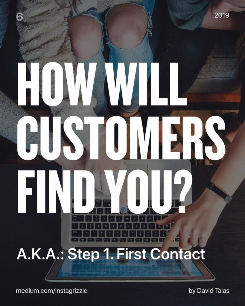 How will customers find you? A.K.A.: Step 1. First contact