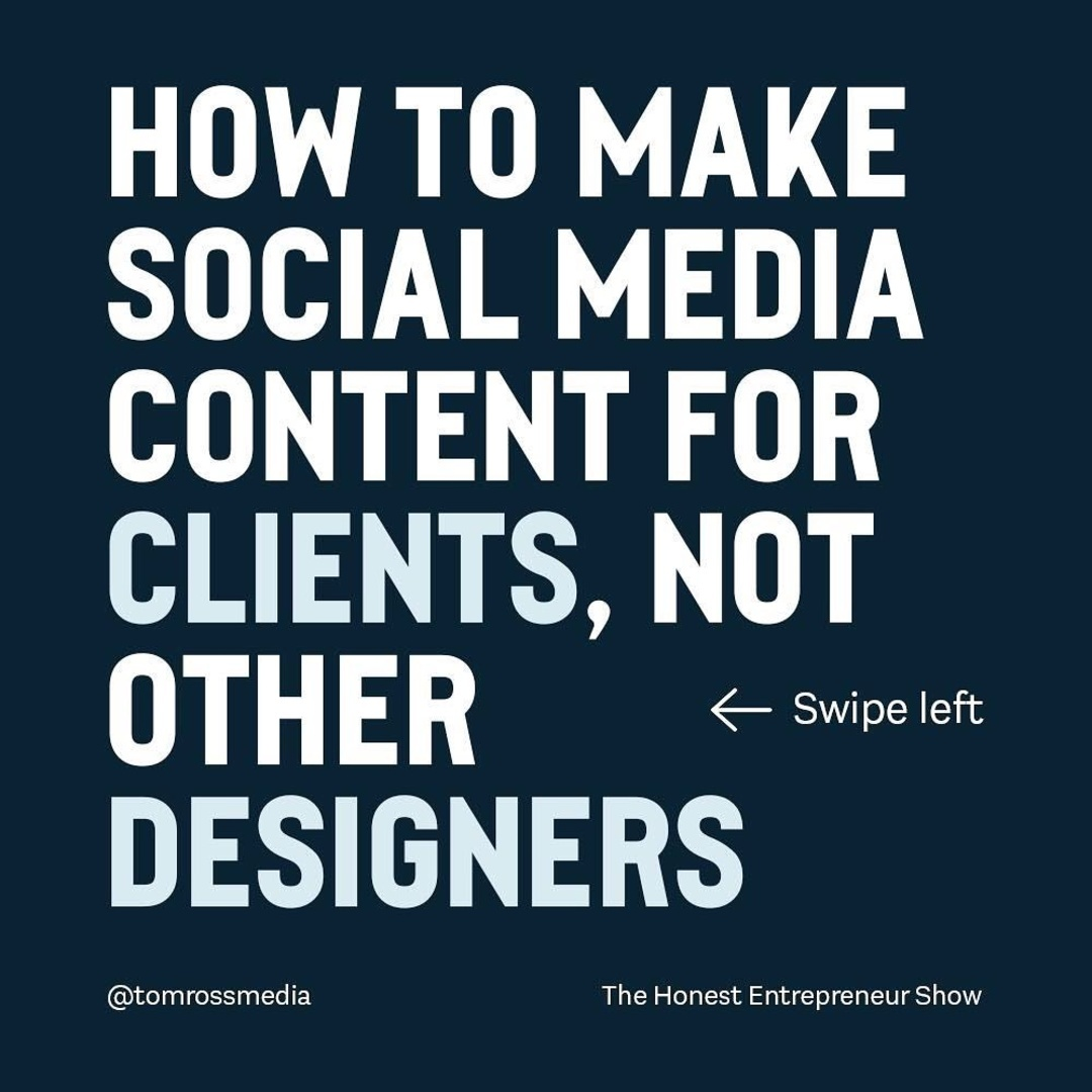 How to make social media for clients, not other designers?