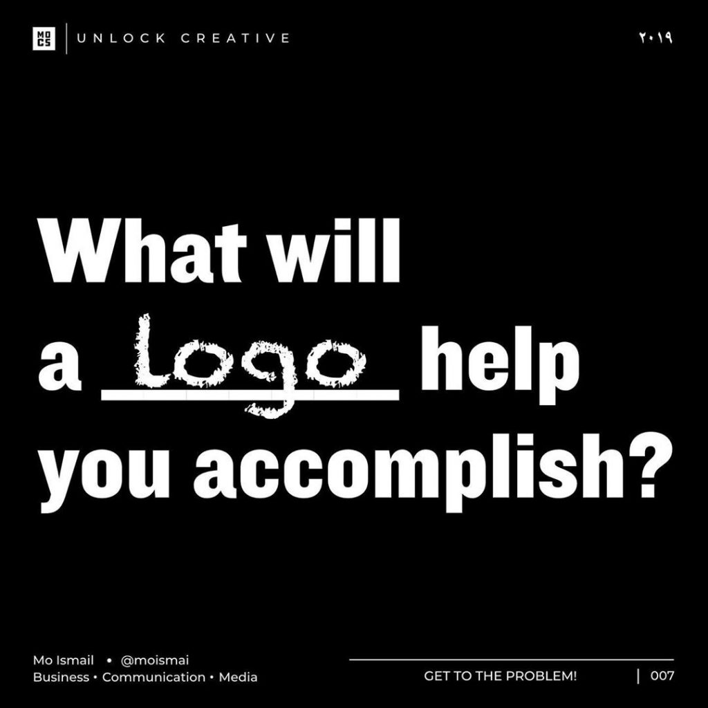 What will a logo help you accomplish?