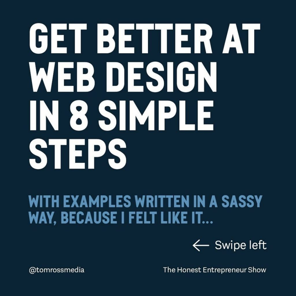 Get better at Web Design in 8️⃣ simple steps