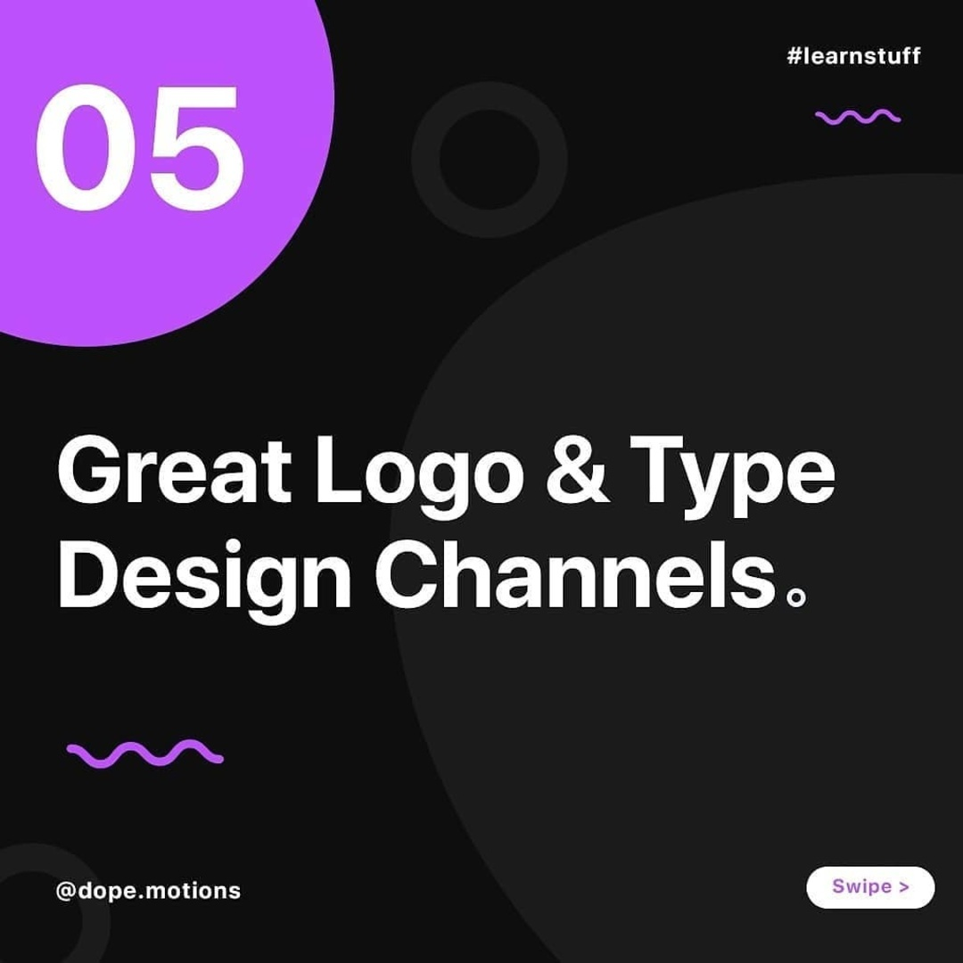 5 Great Logo & Type Design Channels