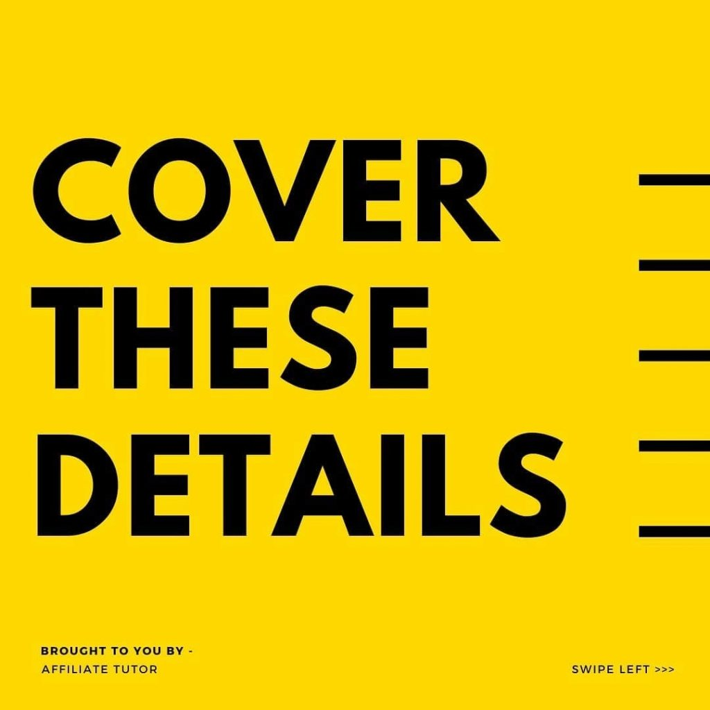 Cover These Details