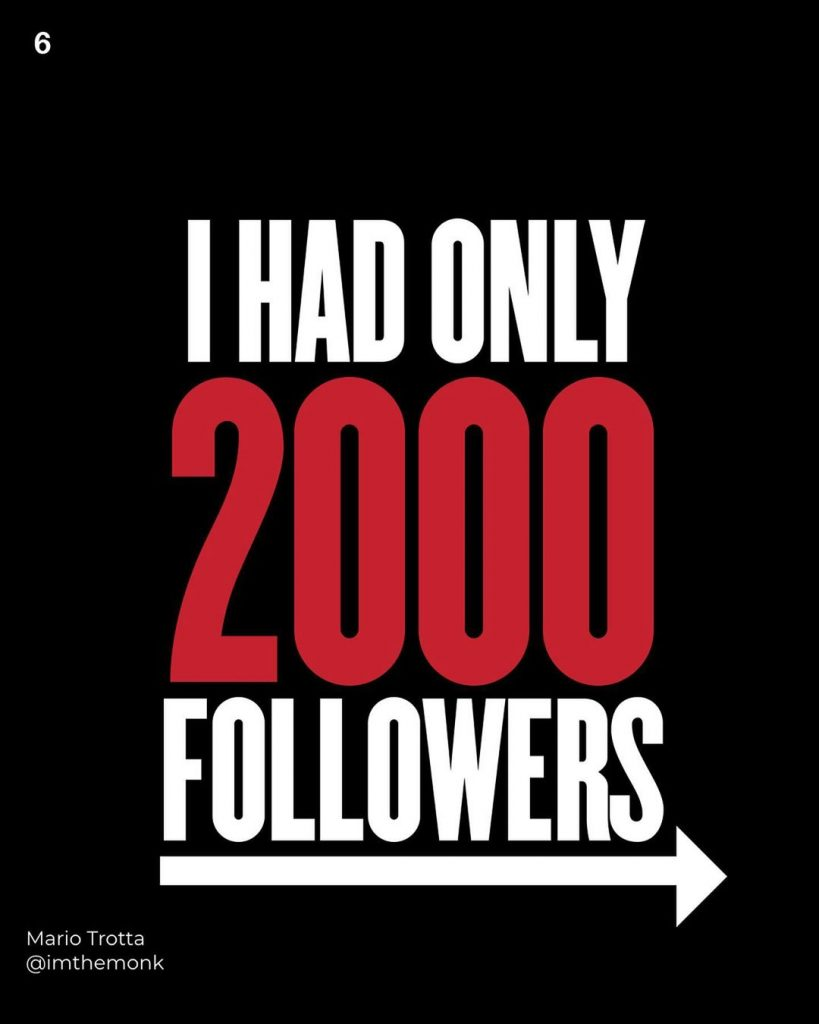 I had only 2000 followers