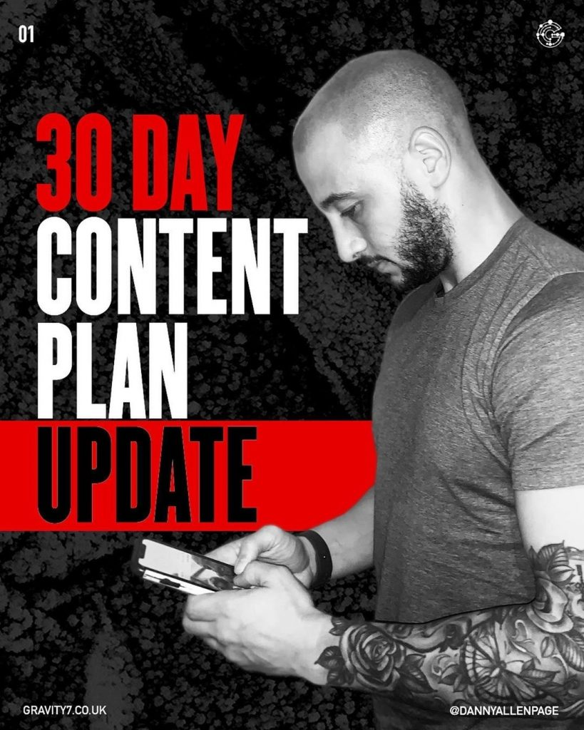 30 Day Content Plan Update