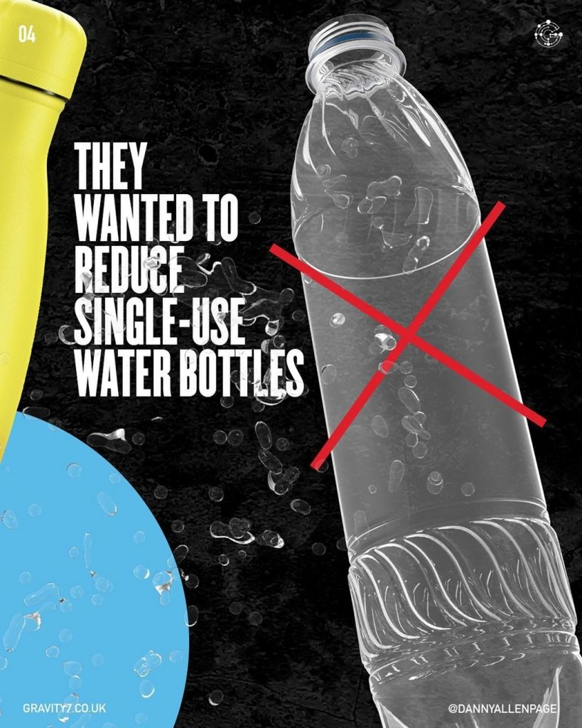 They wanted to reduce single-use water bottles