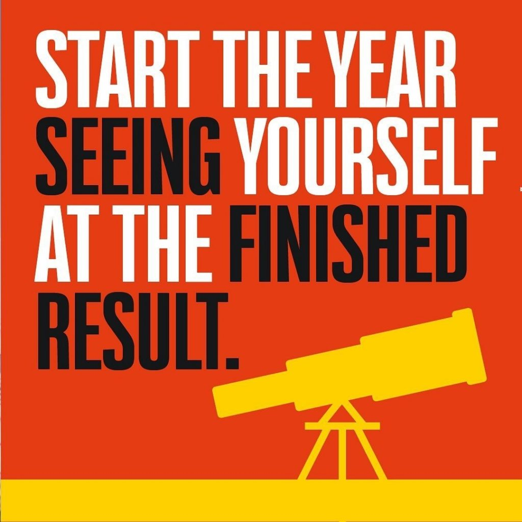 Start the Year Seeing Yourself at the Finished Result