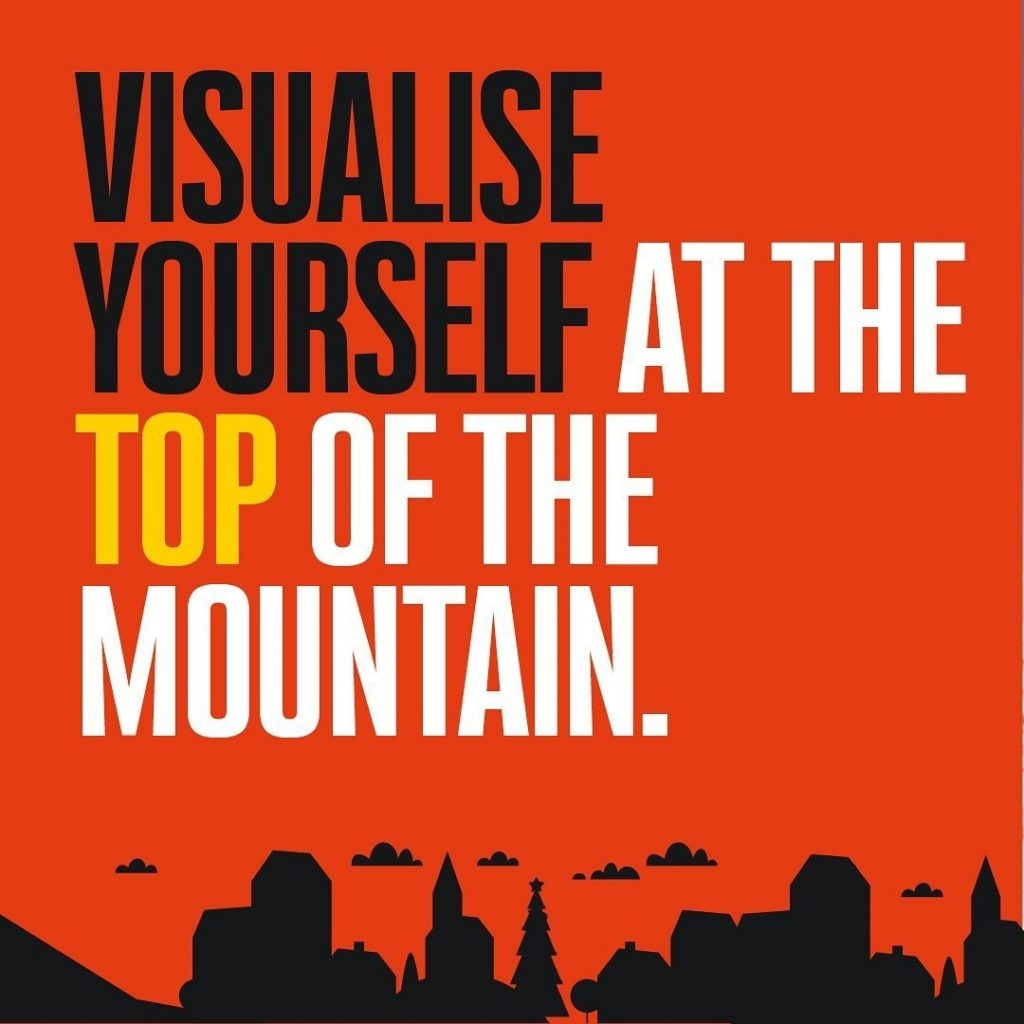 Visualise Yourself at the Top of the Mountain