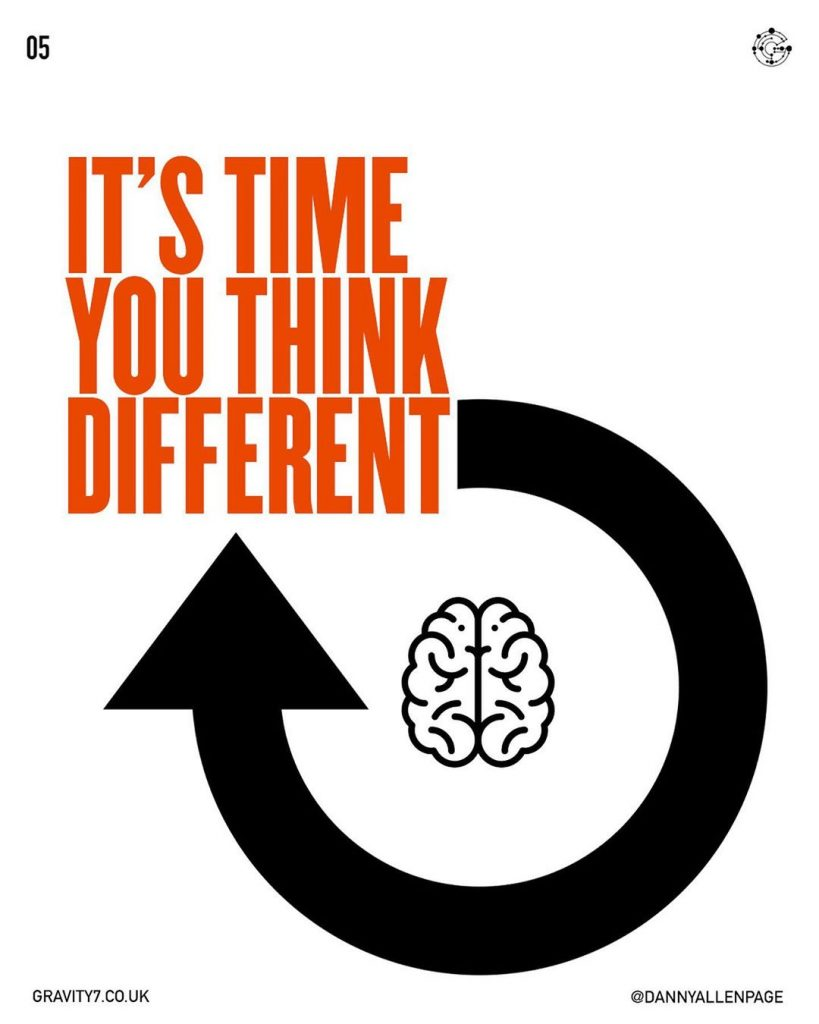 IT'S TIME TO THINK DIFFERENT