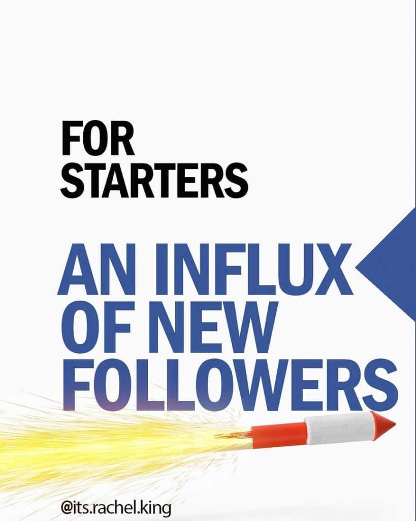 For starters  An influx of new followers