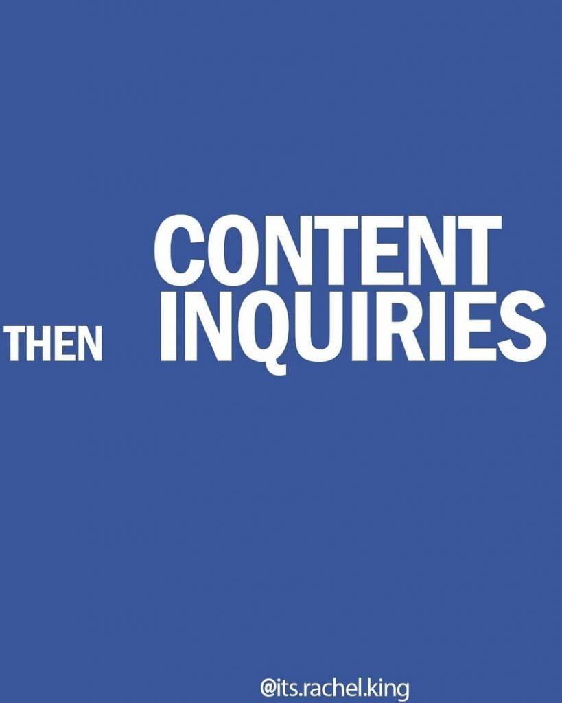 Then content inquiries