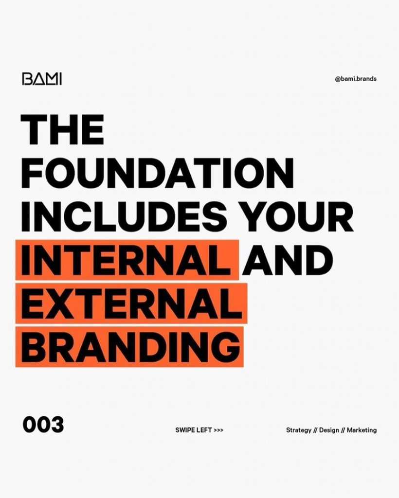 THE FOUNDATION INCLUDES YOUR INTERNAL AND EXTERNAL BRANDING