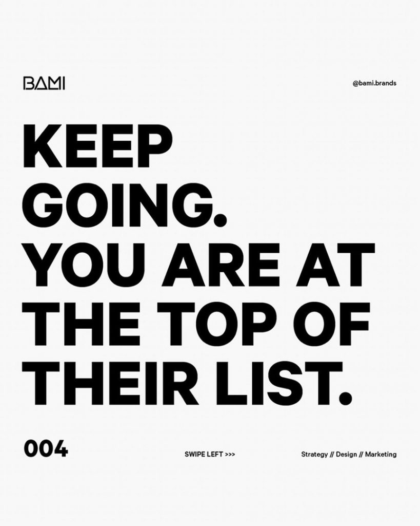 KEEP GOING. YOU ARE AT THE TOP OF THEIR LIST.