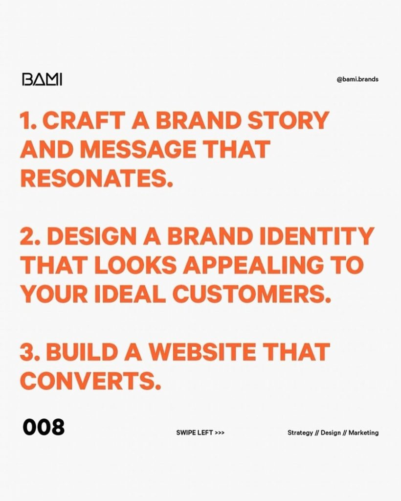 CRAFT A BRAND STORY AND MESSAGE THAT RESONATES.  DESIGN A BRAND IDENTITY THAT LOOKS APPEALING TO YOUR IDEAL CUSTOMERS.  BUILD A WEBSITE THAT CONVERTS.