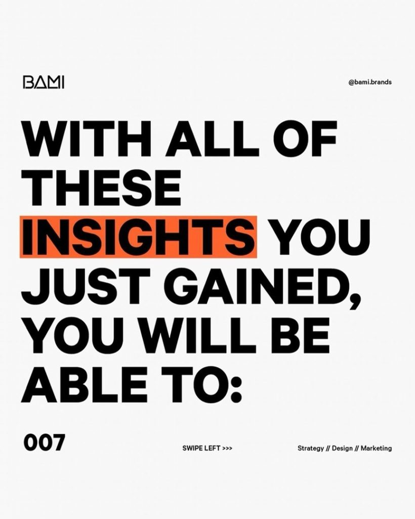 WITH ALL OF THESE INSIGHTS  YOU JUST GAINED, YOU WILL BE ABLE TO: