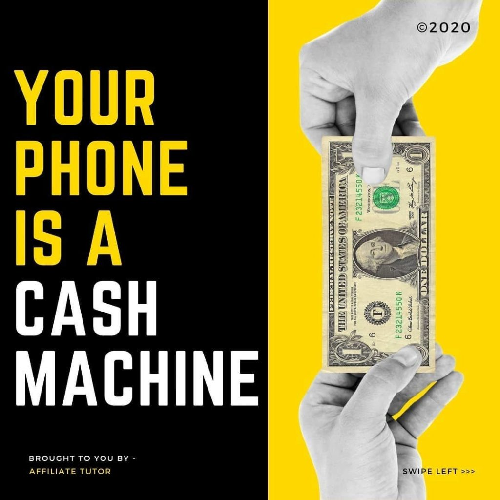 Your phone is a cash machine