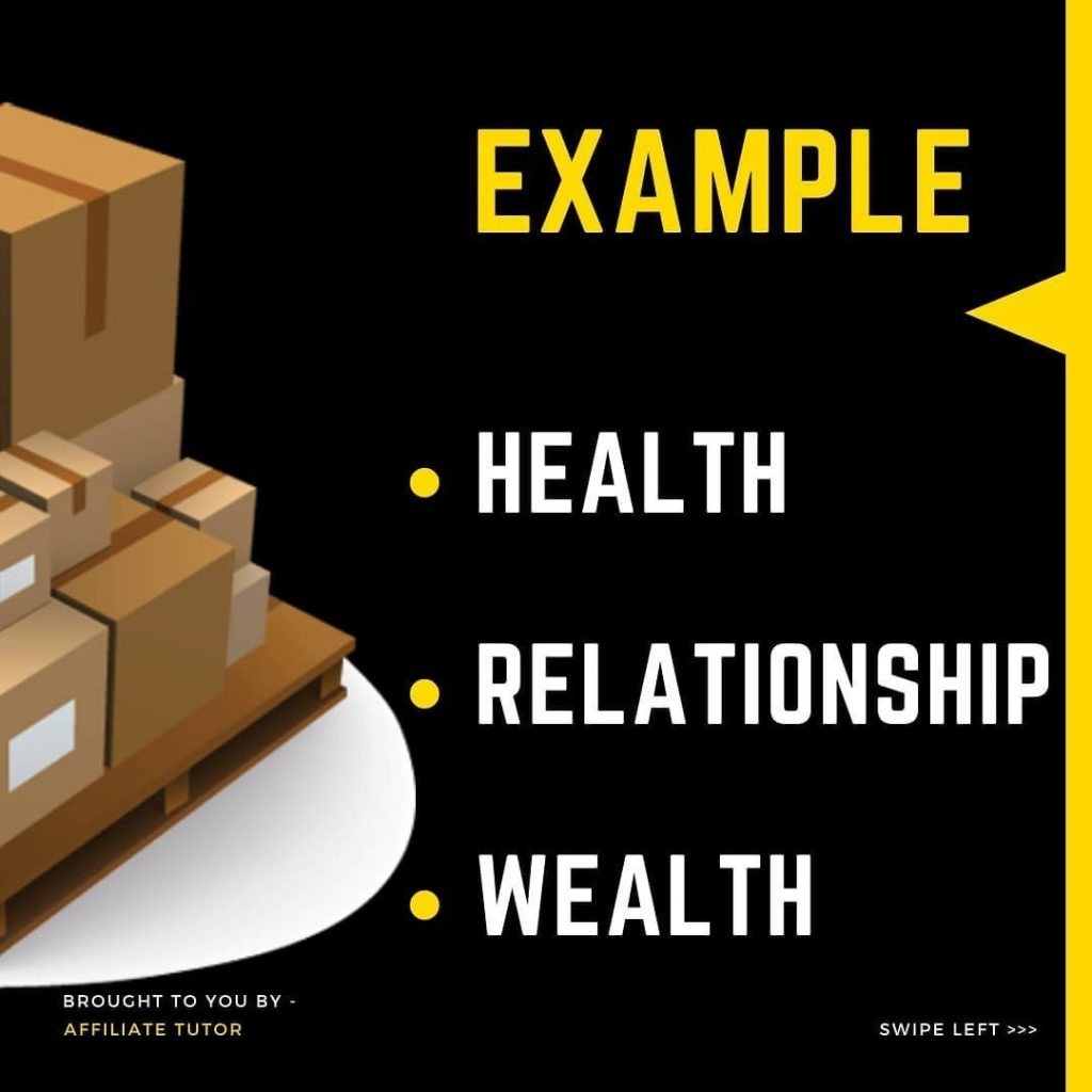 Example:  Health Relationship Wealth